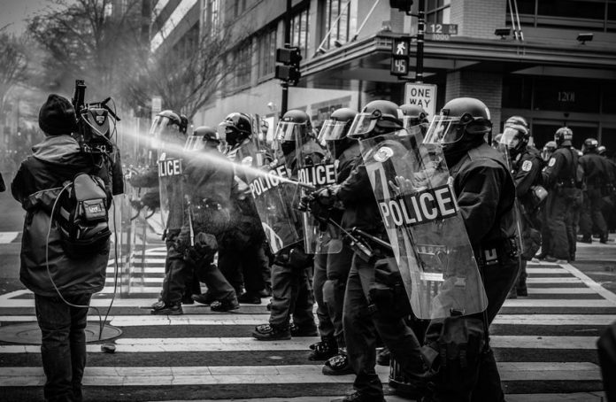 Police vs protesters